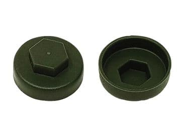 TechFast Cover Cap Olive Green 16mm (Pack 100)